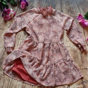 Little girls Country Floral long sleeve dress 4 5